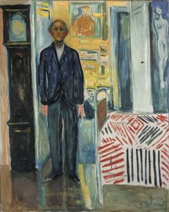 Self-portrait. Between the clock and the bed (1940-1943) Edvard Munch