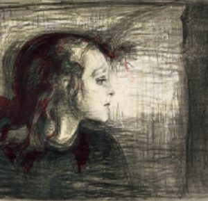 The Sick Child (1885-86) Lithography. Edvard Munch