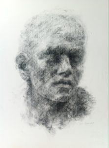 Black chalk drawing