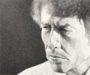 Black chalk drawing by Cecilie Nyman